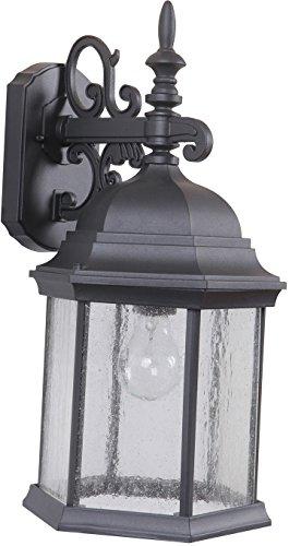 Craftmade Z694-TBCS Hex Style Outdoor Lantern Sconce Wall Lighting, 1-Light, 100 Watts, Textured Matte Black (10