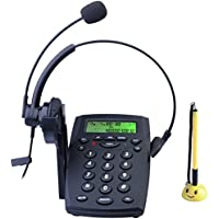 HePesTer P-Z23B Corded Telephone with Noise Cancellation Headset and Dialpad for Home Office Call Center