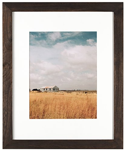 Artcare By Nielsen Bainbridge 16x20 Archival Hazelnut Arcadia Frame With White Mat For 11x14 Image #RW19ARHN. Includes: UV Glazed Glass and Anti Aging - Glass Frame Uv