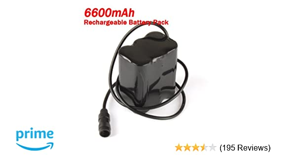 1 X Replacement 8.4V 6600mAh Rechargeable Battery Pack for Headlamp /& Bicycle