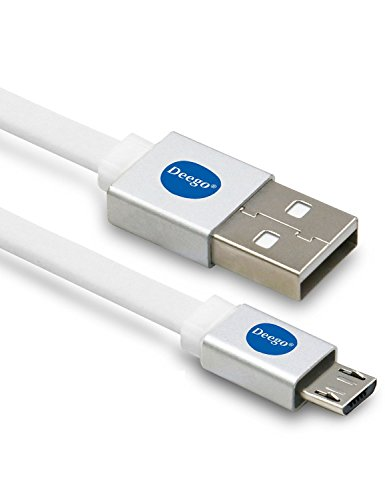 Micro USB Cable, Special Design Colors Colorful Metal Wraped Computer Cables & Interconnects Android Cell Phone Cables 10FT/3M Extra Long Type High Speed USB 2.0 Sync and Charging Cables (White*1) (Micro Usb Charger 15 Feet compare prices)