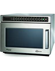 Amana Commercial HDC182 Amana Heavy Duty Compact Commercial Microwave Oven, 1800W, Stainless Steel
