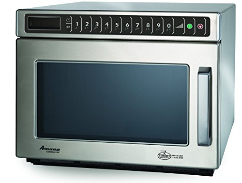 Amana Commercial HDC182 Amana Heavy Duty Compact Commercial Microwave Oven, 1800W, Stainless Steel by Amana Commercial