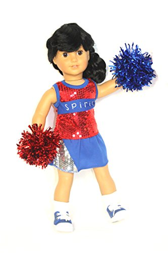 Got Spirit Sequin 4PCS Cheerleader Outfit red/white/blue fits most 18 inch -