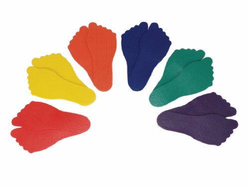 American Educational Products Feet Markers, Assorted Colors, Set of 6 from American Educational Products