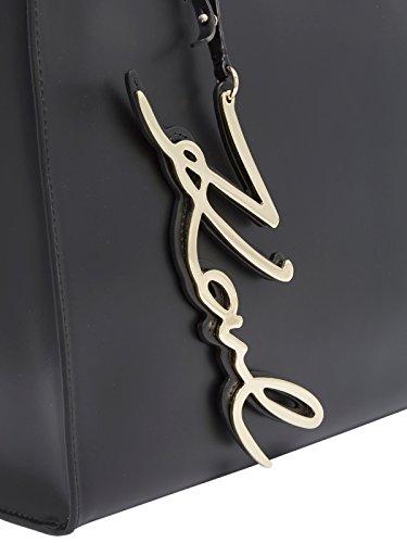 mujer de Karl asas Negro Bolso negro Lagerfeld Piel de para wvwqIf06