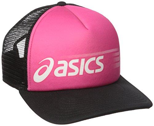 Sideswipe Hat - ASICS Unisex Sideswipe Trucker Cap, Pink Glow/Black, All