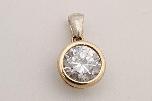 (Fashion Style Turkish Handmade Jewelry Round Shape Topaz 925 Sterling Silver Pendant )