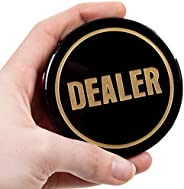 Crystal Dealer Button | Quality Premium Heavy Poker Puck | 3-Inch Large Casino-Grade Button | Luxury Gaming Ac