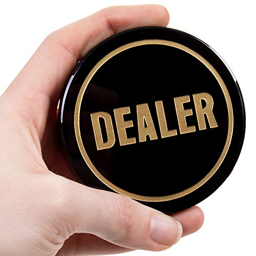 Crystal Dealer Button | Quality Premium Heavy Poker Puck | 3-Inch Large Casino-Grade Button | Luxury Gaming Accessory | Perfect for Poker, Texas Hold