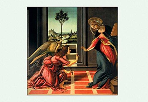 ArtParisienne The Cestello Annunciation Sandro Botticelli 12x18 Poster Semi-Gloss Heavy Stock Paper - Botticelli Annunciation