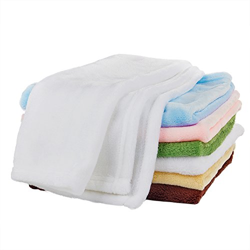 White Dog Blanket (Pet Towel Blanket with Dry Fast,Soft ,Convenient, Multipurpose Puppy Dog and Small Cat for Car,Couch,Bed & Soft Cushion Sleeping Cover (White))