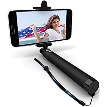 promo code 78ea2 58b6a Premium 5-in-1 Bluetooth Selfie Stick for iPhone X XR XS 10 8 7 6 5,  Samsung Galaxy S10 S9 S8 S7 S6 S5, Android - Selfie Sticks (Powered by USA  ...