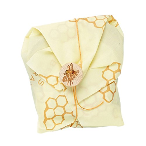 Bees Wrap Sandwich Wrap, Eco Friendly, Reusable, and Sustainable Plastic Free Food Storage for Wrapping Sandwiches - Honeycomb Print
