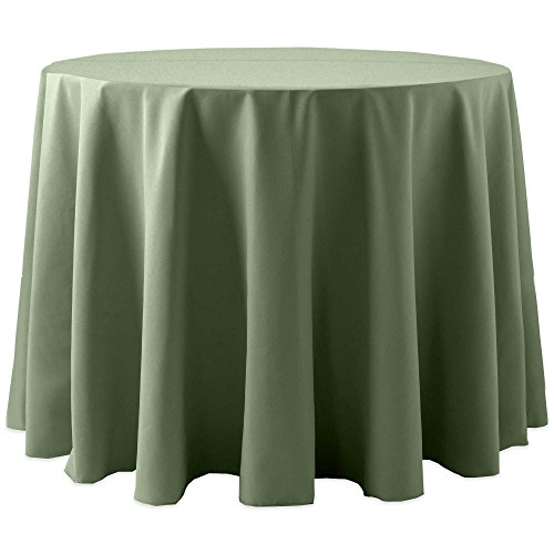 Ultimate Textile (10 Pack) Cotton-feel 60-Inch Round Tablecloth - for Wedding and Banquet, Hotel or Home Fine Dining use, Army Green by Ultimate Textile (Image #1)