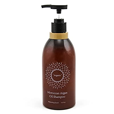 Argan Oil Shampoo Revitalizes, Hydrates, And Restores All Hair Types For Men And Women Hair Loss With A Premium Revitalizing Moroccan Argan Oil Formula Paraben Free & Sulfate Free 16 Fl Oz