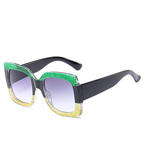 3 Gafas Europa Retro Unidos de Mujer Estados 6 Sol de Sol Gafas y Sol de Gafas YANJING Sol de Color de UV de Gafas T0qWB