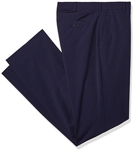 Van Heusen Men's Big and Tall Flex Flat Front Oxford Chino Pant, VHS Midnight, 38W X 36L