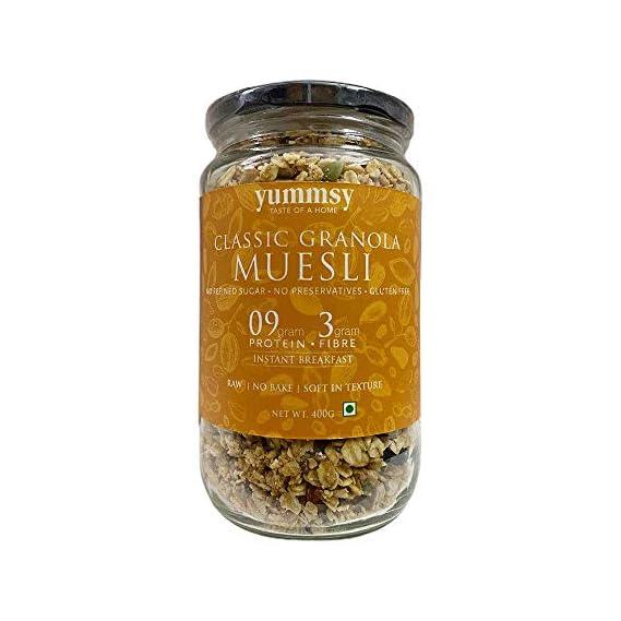 Yummsy Classic Granola Muesli! High Protein, Sugar Free & Gluten Free.