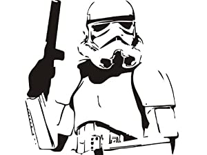 Bewitching image with stormtrooper stencil printable