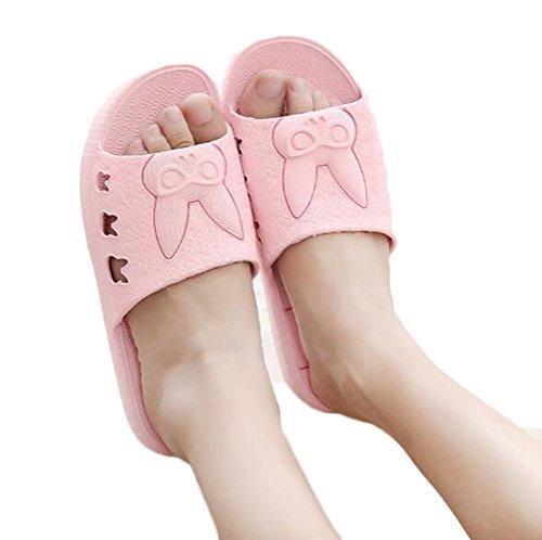 Nanxson (tm) Pantofola Antiscivolo In Cotone Antiscivolo Pvc Tx0002 Rosa Unisex