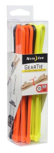 Nite Ize Gear Tie ProPack Reusable Rubber Twist Tie, 12-Inch, Assorted