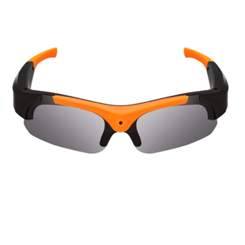 APJJ Modische Sonnenbrille Digitale intelligente Brille mit High-Definition-Kamera,Orange