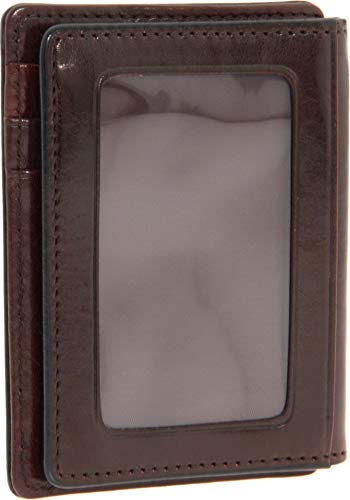 Bosca Dark Brown Old Leather Front Pocket ID ()