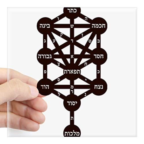 CafePress Kabbalah Judaism Tradition Hebrew Alphabet Sticker Square Bumper Sticker Car Decal, 3