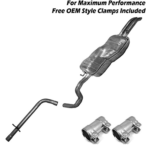 1999-2004 VW Jetta TDI 1.9L muffler resonator exhaust cat back kit