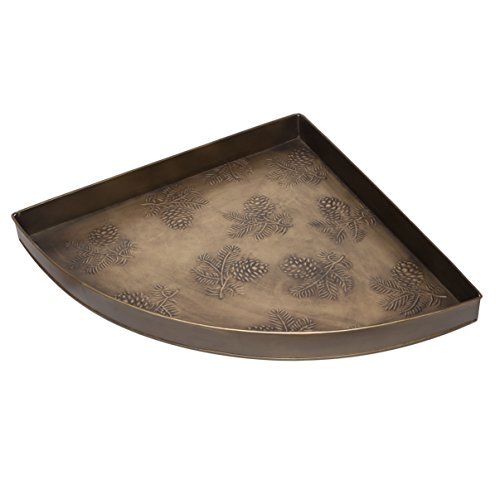Boot Pinecone - HF by LT Pine Cone Pattern Corner Metal Boot Tray, 21