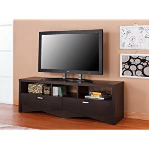 Furniture of America Espresso Media Center Storage Cabinet up to 60 inch flat screen TV Stand