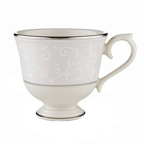 Platinum Ivory Banded Cup China - Lenox Pearl Innocence Platinum Banded Ivory China Cup by Lenox