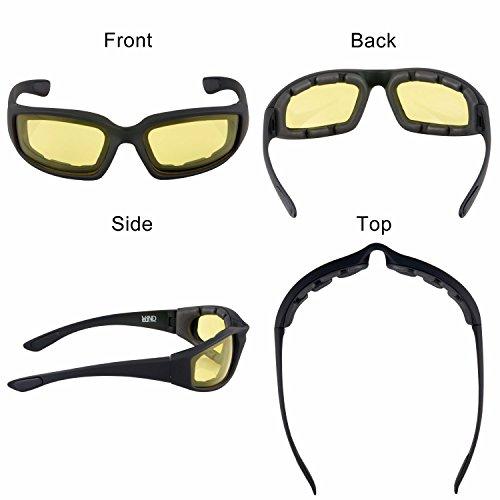 2699a245ae0 WYND Blocker Motorcycle   Biking Wind Resistant Sports Wrap Sunglasses