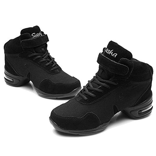 Roymall Män Och Kvinnor Ökar Dans Sneaker / Modern Jazz Ballroom Prestanda Dansgymnastiksportskor, Modell B60 / B61 Black-1