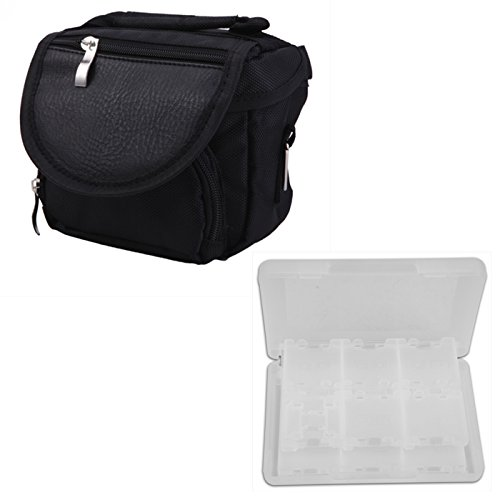 Nintendo Ds Lite Bags - HDE Portable Travel Bag and 24 Cartridge Case for Nintendo DSi/ DS Lite / 3DS / 3DS XL (Travel Case and Game Card Holder)