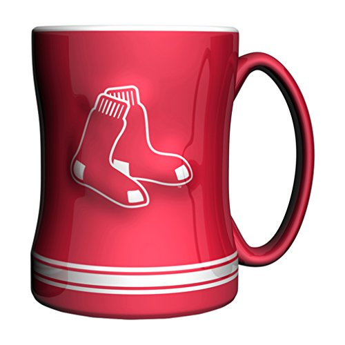 MLB Boston Red Sox 14-ounce Sculpted Relief Mug Alternate Color, Red