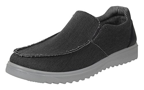 iLoveSIA Men's Comfort Slip-on Cavans Daily Casual Loafer Shoes Deep Grey US Size 11