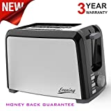 Toaster Two Slice Bread Toasters-2 Slice Toaster Stainless Steel Wide Slot Toasters Two Slice Toaster Best Rated Prime 2-slice Compact Toaster has Bagel Defrost Reheat Button