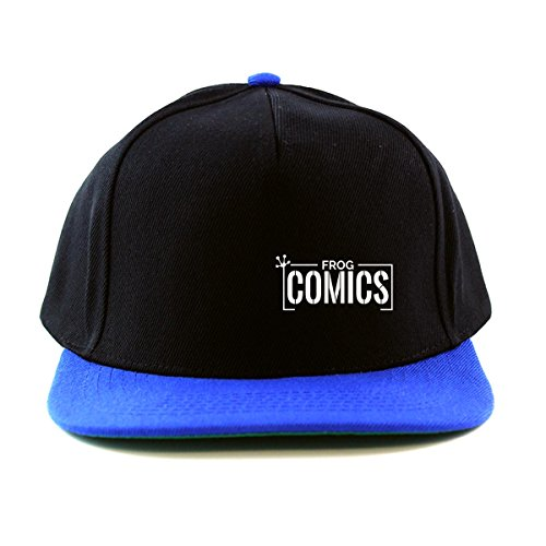 The Lost Boys: Frog Comics SML White Snapback Cap (One Size Fits All/Black (with Royal Peak)) (Schumacher Hat)