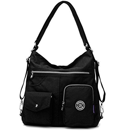 Nylon Backpack Handbag - 9