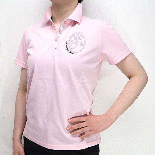 31022 春夏 日本製 レディース 吸水速乾 UVカット ストレッチ 半袖 ポロシャツ ピンク(桃色) サイズ 44 CASTELBAJACカステルバジャック 紳士服 メンズ 男性用