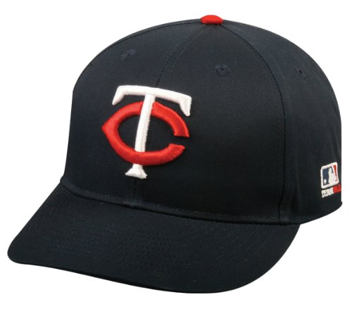 Adult FLAT BRIM Minnesota Twins Home Navy Blue Hat Cap MLB Adjustable (Minnesota Twins Baseball Hat)