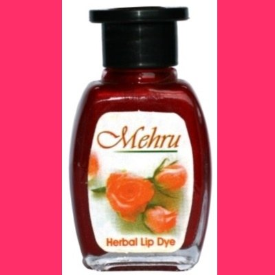 Mehru Lip Dye, Natural Herbal Lip Stain - Rose Pink