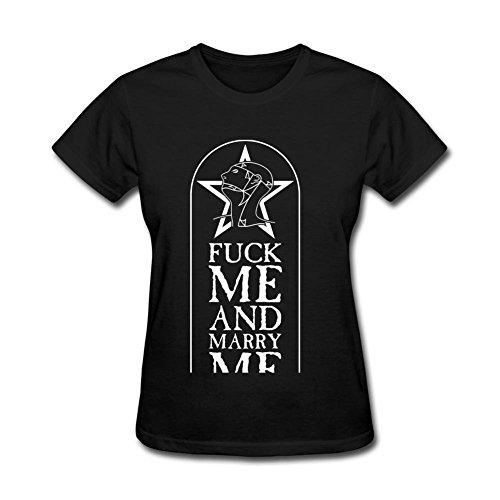 Rosar Women's The Sister Of Mercy Design Short Sleeve T Shirt Black