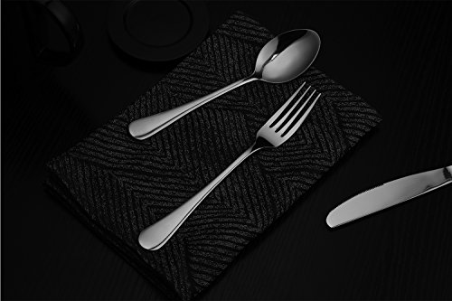 Hiware 12-piece Good Stainless Steel Dinner Forks Cutlery Set, 8 Inches by Hiware (Image #3)