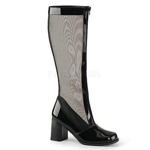 Funtasma Women's Gogo-307 Knee-High Boots Black