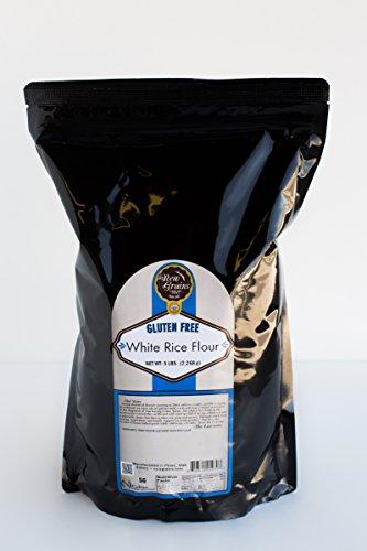 - New Grains Gluten Free Sweet White Rice Flour (5 lbs)