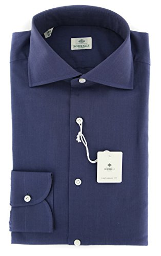 Luigi Borrelli New Blue Solid Extra Slim Shirt