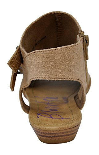 Sandal Women's Wedge Sand Strap Balla Blowfish Natural Suede Ptqgxzg